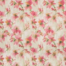 Ivory/Pink/Green Botanical Drapery and Upholstery Fabric by Kravet