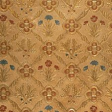 White/Gold Drapery and Upholstery Fabric by Scalamandre