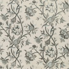Ivory/Beige/Spa Botanical Drapery and Upholstery Fabric by Kravet