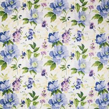 Periwinkle Floral Drapery and Upholstery Fabric by Greenhouse
