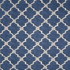 Denim Medallion Drapery and Upholstery Fabric by Greenhouse