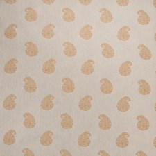 Gold Paisley Drapery and Upholstery Fabric by Greenhouse