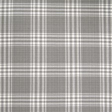 Pearl Grey Plaid Check Drapery and Upholstery Fabric by Greenhouse
