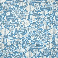 Ocean Novelty Drapery and Upholstery Fabric by Greenhouse
