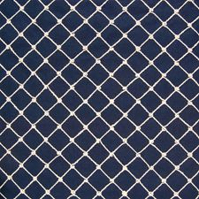 Blue Lattice Drapery and Upholstery Fabric by Greenhouse