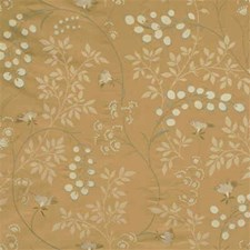 Bronze Botanical Drapery and Upholstery Fabric by G P & J Baker