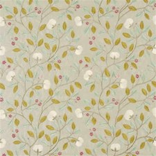 Ivory/Silver Embroidery Drapery and Upholstery Fabric by G P & J Baker