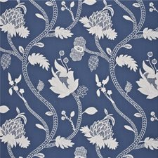 Delft Embroidery Drapery and Upholstery Fabric by G P & J Baker