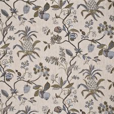Sage/Dove Vegetable Drapery and Upholstery Fabric by G P & J Baker