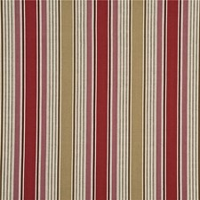 Red/Camel Stripes Drapery and Upholstery Fabric by G P & J Baker