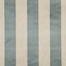 Aqua/Natural Stripes Drapery and Upholstery Fabric by G P & J Baker