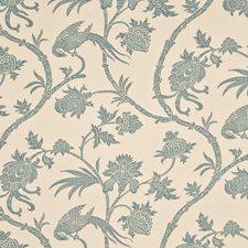 Aqua/Ivory Drapery and Upholstery Fabric by G P & J Baker