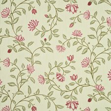 Antique Rose Embroidery Drapery and Upholstery Fabric by G P & J Baker