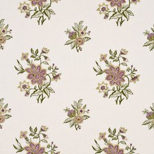 Spring/Lavender Embroidery Drapery and Upholstery Fabric by G P & J Baker
