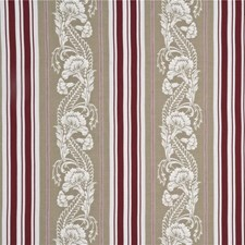 Red Embroidery Drapery and Upholstery Fabric by G P & J Baker