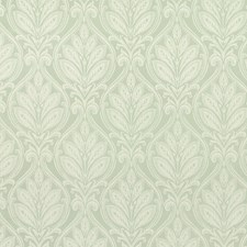 Celadon Damask Drapery and Upholstery Fabric by G P & J Baker