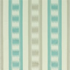 Aqua/Silver Drapery and Upholstery Fabric by G P & J Baker