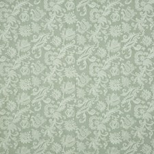 Pale Aqua Embroidery Drapery and Upholstery Fabric by G P & J Baker