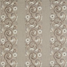 Neutral Embroidery Drapery and Upholstery Fabric by G P & J Baker