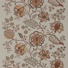Spice Embroidery Drapery and Upholstery Fabric by G P & J Baker