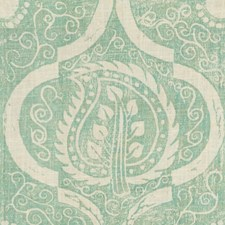 Aqua Botanical Drapery and Upholstery Fabric by Lee Jofa