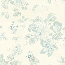 Blue Botanical Drapery and Upholstery Fabric by Lee Jofa