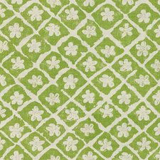 Green/Oyster Botanical Drapery and Upholstery Fabric by Lee Jofa