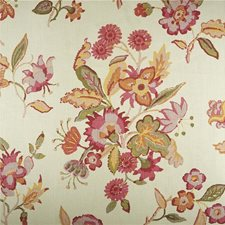 Pink Botanical Drapery and Upholstery Fabric by Lee Jofa