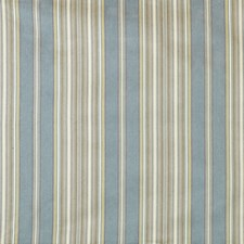Aqua/Gold Stripes Drapery and Upholstery Fabric by Lee Jofa