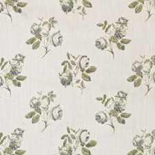 Lime/Blue Print Drapery and Upholstery Fabric by Lee Jofa