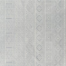 Silver Ethnic Drapery and Upholstery Fabric by Lee Jofa