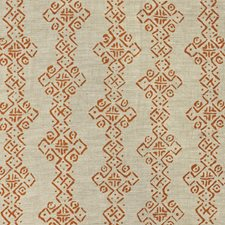 Tangerine Ethnic Drapery and Upholstery Fabric by Lee Jofa