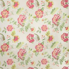 Pink/Lime Botanical Drapery and Upholstery Fabric by Lee Jofa