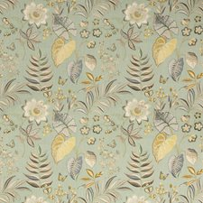 Celadon Botanical Drapery and Upholstery Fabric by Kravet
