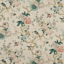 Rose/Grey Print Drapery and Upholstery Fabric by G P & J Baker