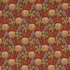 Red/Green Print Drapery and Upholstery Fabric by G P & J Baker
