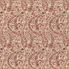 Red Print Drapery and Upholstery Fabric by G P & J Baker
