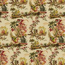 Cream Asian Drapery and Upholstery Fabric by Brunschwig & Fils