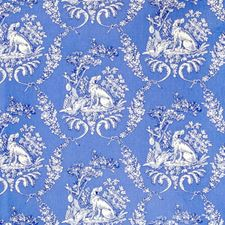 Blue Animal Drapery and Upholstery Fabric by Brunschwig & Fils