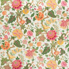 Jewel Botanical Drapery and Upholstery Fabric by Brunschwig & Fils