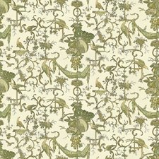 Leaf On White Animal Drapery and Upholstery Fabric by Brunschwig & Fils