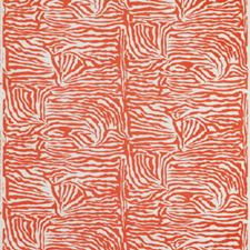 Orange Modern Drapery and Upholstery Fabric by Brunschwig & Fils