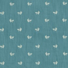 Oxford Blue Botanical Drapery and Upholstery Fabric by Brunschwig & Fils