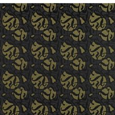 Black/Gold Geometric Drapery and Upholstery Fabric by Brunschwig & Fils