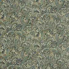Brown/Blue/Beige Paisley Drapery and Upholstery Fabric by Kravet
