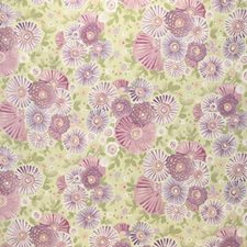 Light Green/Purple/Pink Botanical Drapery and Upholstery Fabric by Kravet