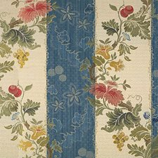 Multi On Prussian Blue/Bisque Drapery and Upholstery Fabric by Scalamandre