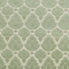 Jade/Ivory Drapery and Upholstery Fabric by Scalamandre