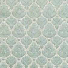 Aquamarine/Ivory Drapery and Upholstery Fabric by Scalamandre