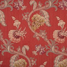 Multi On Red Drapery and Upholstery Fabric by Scalamandre